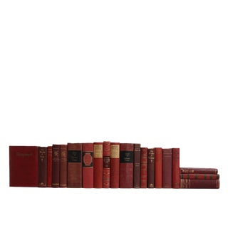 Vintage French Literature Book Set: Crimson & Ruby, S/20 Custom Set For Sale