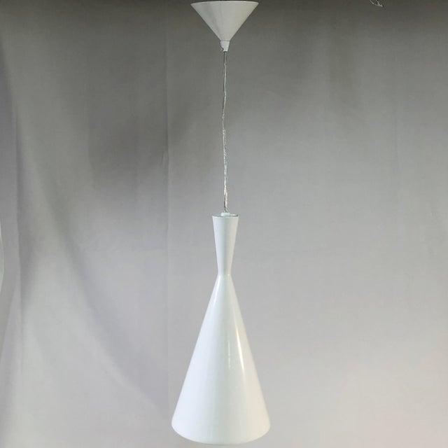White EuroFase Bronx 1-Light White Ceiling Pendant For Sale - Image 8 of 8