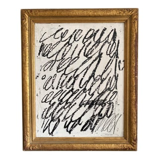 """Josh Young Design House """"Rue Lévêque"""" Painting in Antique Gilded Frame For Sale"""