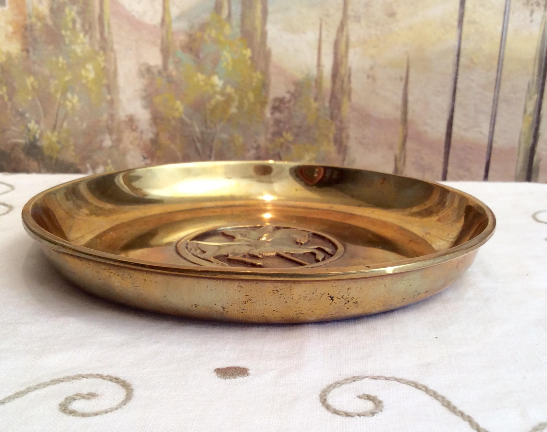 Brass Bronze ildefast Bronce Denmark Plate