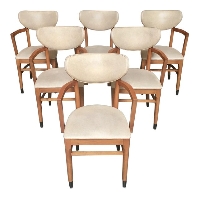 Late 20th Century Shelby Williams Maple Arm Chairs