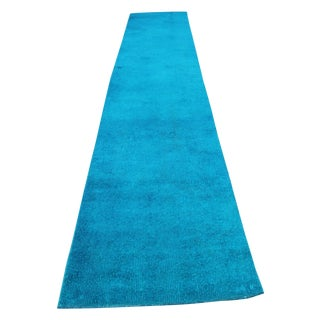 Oushak Overdyed Vintage Runner - 2′6″ × 9′7″ For Sale