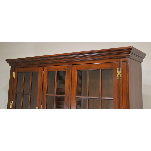 Councill Craftsman Cherry Pennsylvania Style Dutch Cupboard For Sale In Philadelphia - Image 6 of 13