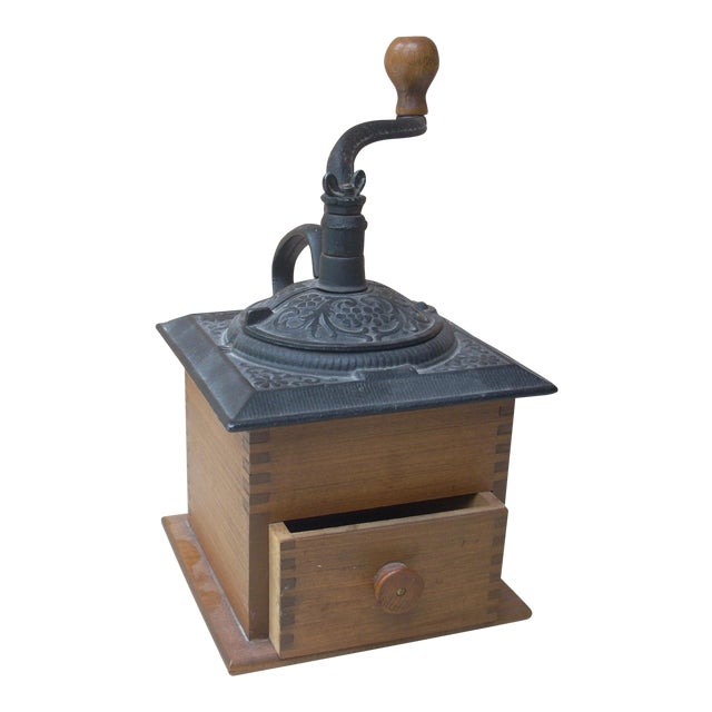 Antique Wood Coffee Mill - Image 1 of 5