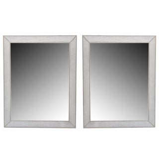 """Pair of French Modern """"Pony"""" and Nickel Mirrors For Sale"""