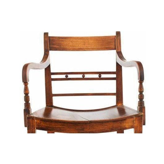 English Classic 19th Century English Regency Library Armchairs From an Equestrian Estate - a Pair For Sale - Image 3 of 4