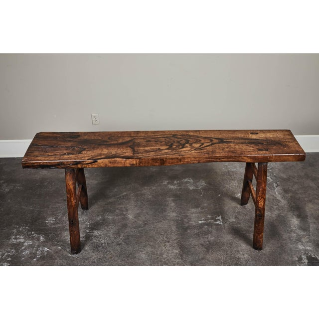 18th C. Chinese Poplar Elm Altar Table For Sale - Image 4 of 8
