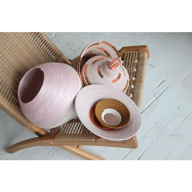 Boho Chic Bonded Urn Blush/ochre & Papaya For Sale - Image 3 of 4