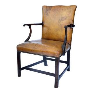 19th Century Leather Armchair