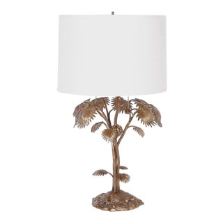 Bronze Palm Tree Table Lamp For Sale