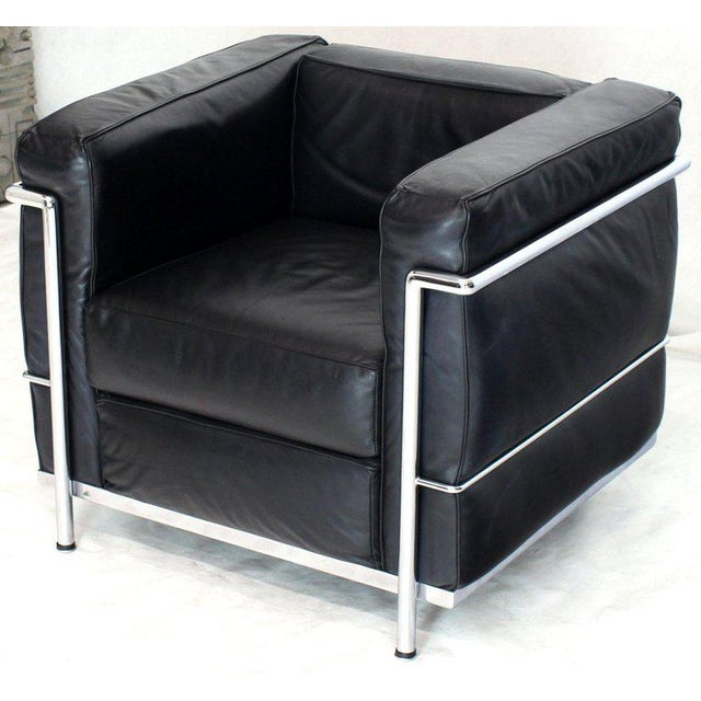 Licensed Le Corbusier Club Chairs and Matching Lc2 Sofa Set- 3 Pieces For Sale - Image 10 of 12