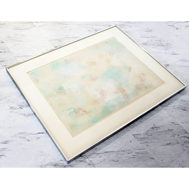Mid-Century Modern Mid-Century Modern Framed Abstract Litho Robert Natkin Dated 1970s For Sale - Image 3 of 8