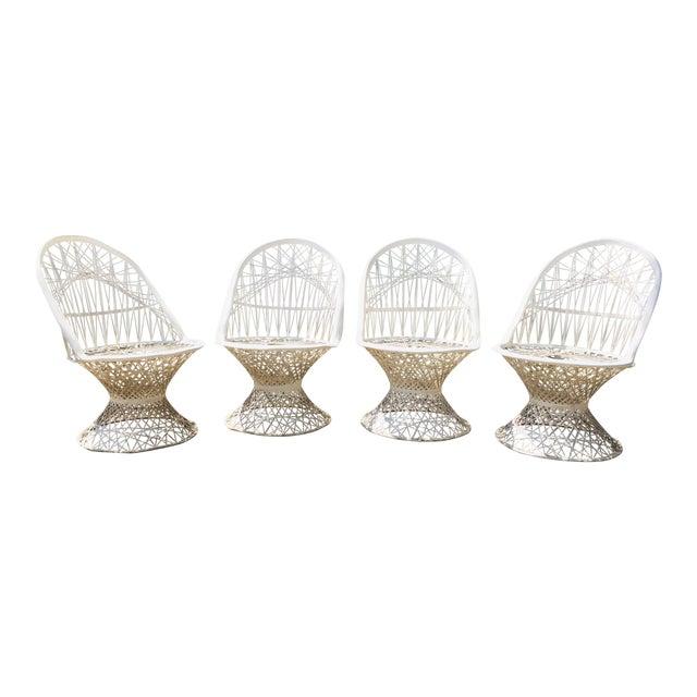 1960s Vintage Spun Fiberglass Patio Chairs- Set of 4 For Sale