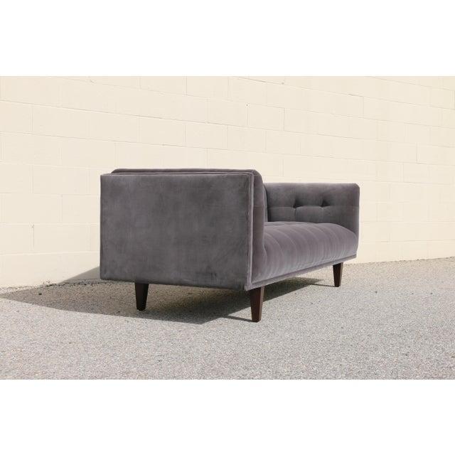 Modern Velvet Tufted Sofa - Image 4 of 10
