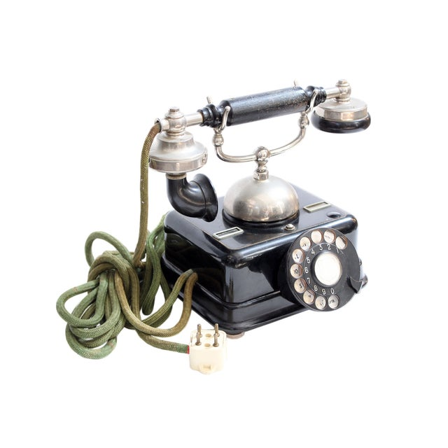 Antique European Kjobenhavns Cradle Telephone - Image 2 of 6