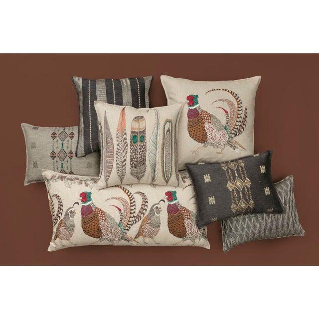 Boho Chic Boho Chic Berber Pyrite Slate Pillow For Sale - Image 3 of 4