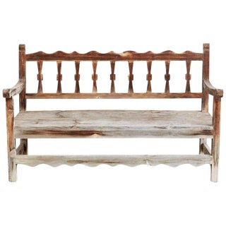 Rustic California Rancho Monterey Style Pine Bench For Sale