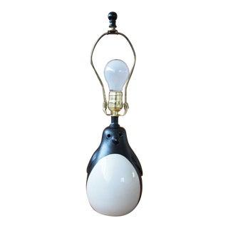 Rare Vintage Bitossi Penguin Table Lamp For Sale