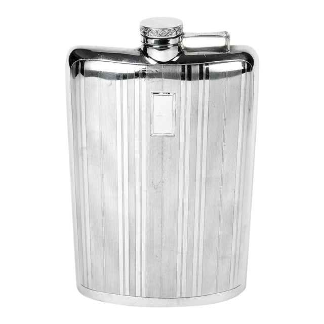 Sterling Silver Flask For Sale