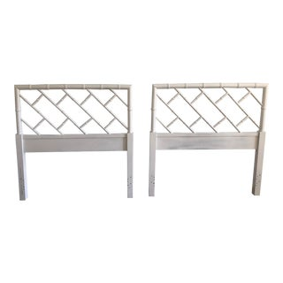 Thomasvile Chippendale Faux Bamboo Twin Headboards - a Pair