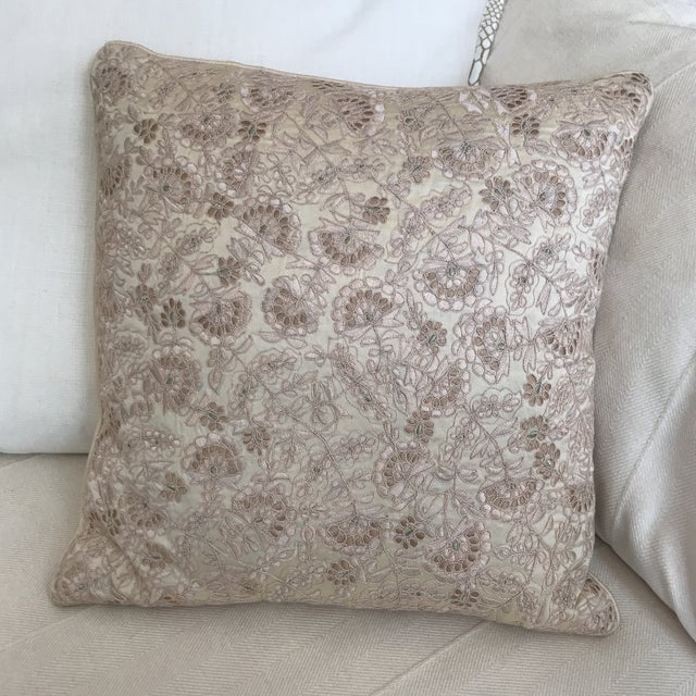 Fabric ABC Home Anke Drechsel Throw Pillow For Sale - Image 7 of 7