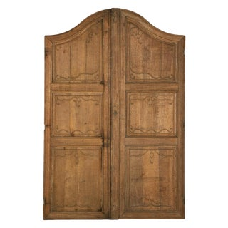 19th Century Large French Arched Doors - A Pair For Sale