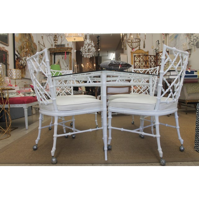 White Iron Patio Set - Image 3 of 4