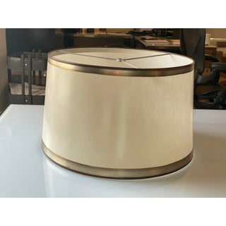 Parchment Drum Shade With Hand Applied Silver Metal Leaf Detail Preview