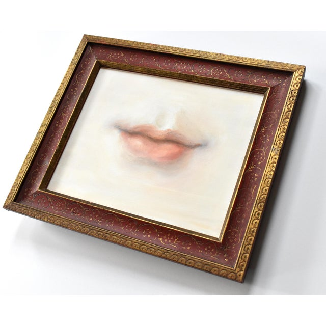 Susannah Carson Contemporary Lover's Lips Painting by Susannah Carson For Sale - Image 4 of 5