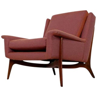 Mid Century Modern Early Sculptural Wood Lounge Armchair Vladimir Kagan 1950s For Sale
