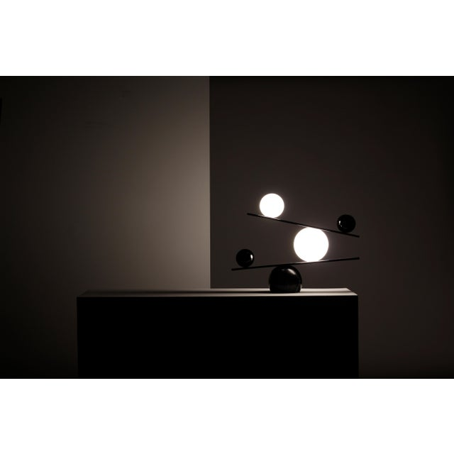 Balance Brass Table Lamp by Victor Castanera For Sale - Image 6 of 9