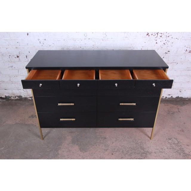 Paul McCobb for Calvin Furniture Ebonized Dresser For Sale In South Bend - Image 6 of 12