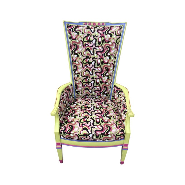 Multicolor High Back Chair - Image 1 of 7