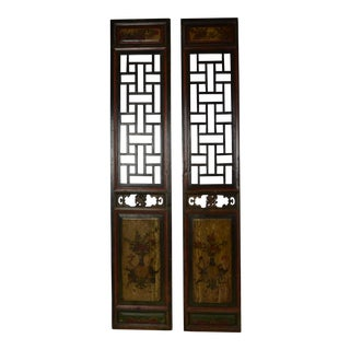 Late 19th Century Asian Panels-a Pair For Sale