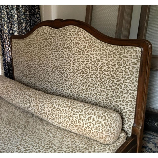 Superb Antique French Provincial Bed - Scalamandre Cheetah - Image 4 of 6