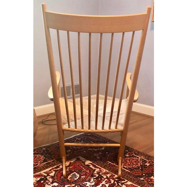 Hans Wegner 1970s Vintage Hans Wegner FDB Møbler Beech Rocking Chair For Sale - Image 4 of 7