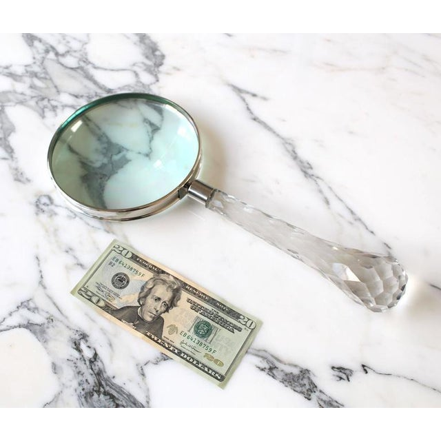 Very large Cut Crystal Handle Magnifying Glass Rare Fancy For Sale - Image 9 of 10