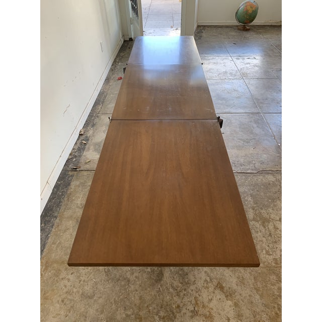 Vintage Drexel Expandable Bamboo Console For Sale - Image 10 of 13