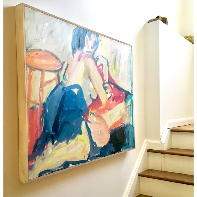 """""""Figure,"""" by Ellen Reinkraut is an Abstract Expressionistic piece she upainted while studying at the prestigious but,..."""