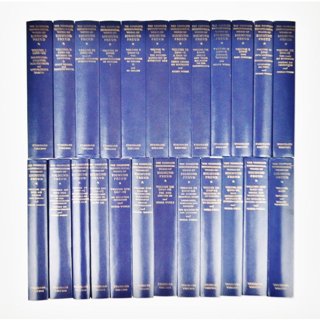"""24 Vol The Standard Edition Of The Complete Psychological Works Of Sigmund Freud Approximate Dimensions: 8.75"""" high x..."""