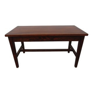 Vintage A. Merriam Company Wood Bench For Sale