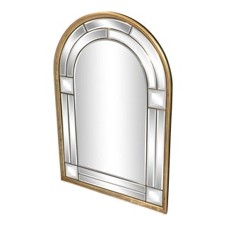 La Barge Italian Domed Beveled Glass Mirror For Sale