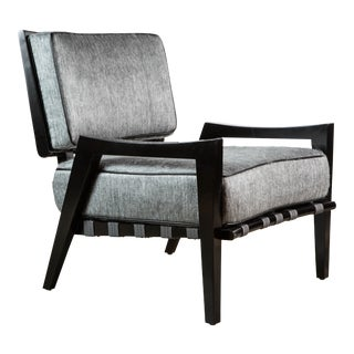 Paul Marra Low Lounge Chair in Black Lacquer For Sale