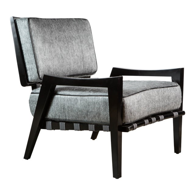 Paul Marra Low Lounge Chair in Black Lacquer - Image 1 of 9