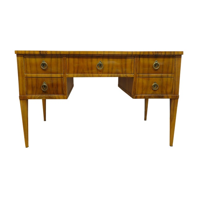Midcentury Tiger Wood Desk For Sale - Image 13 of 13