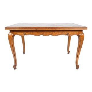 Louis XV-Style Parquet Top Drop Leaf Dining Table For Sale