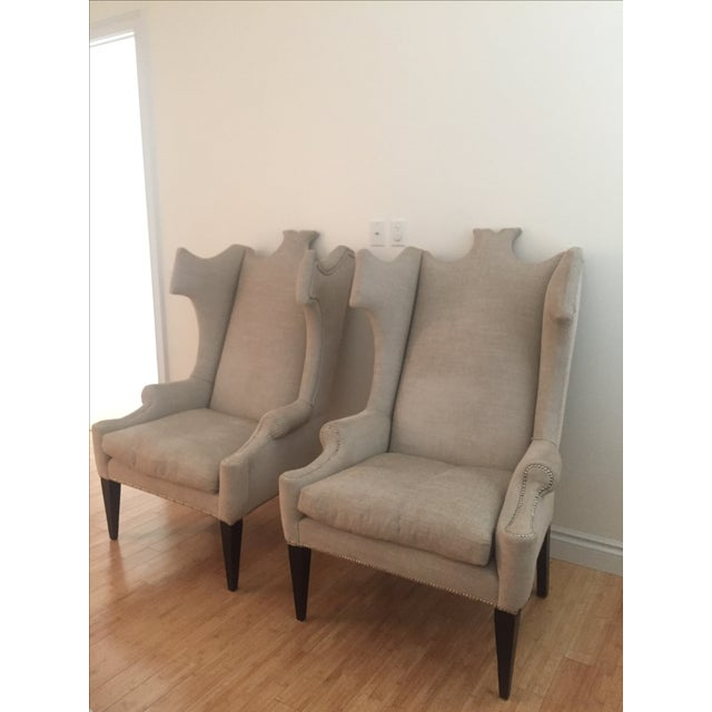 Traditional Andrew Martin Beetle-Back Chairs For Sale - Image 3 of 5
