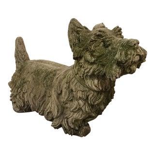 Scottie Dog Concrete Garden Sculpture
