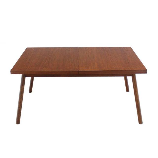 T.H. Robsjohn-Gibbings Robsjohn Gibbings Walnut Extention Dining Table with Two Leaves For Sale - Image 4 of 7