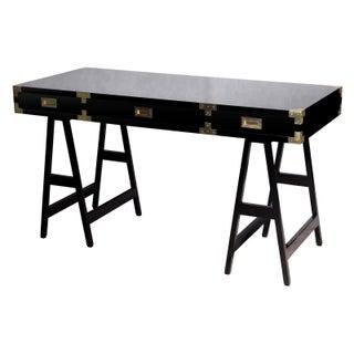 Campaign Modern Style Black Lacquer Study Desk Preview